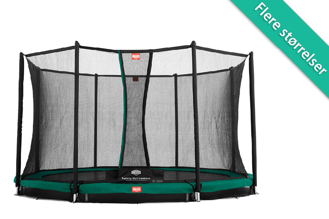 Berg Favorit nedgravnings trampolin med komfort sikkerhedsnet - 380 cm