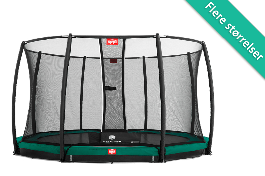 Image of   Berg Favorit InGround trampolin med deluxe sikkerhedsnet - 270 cm