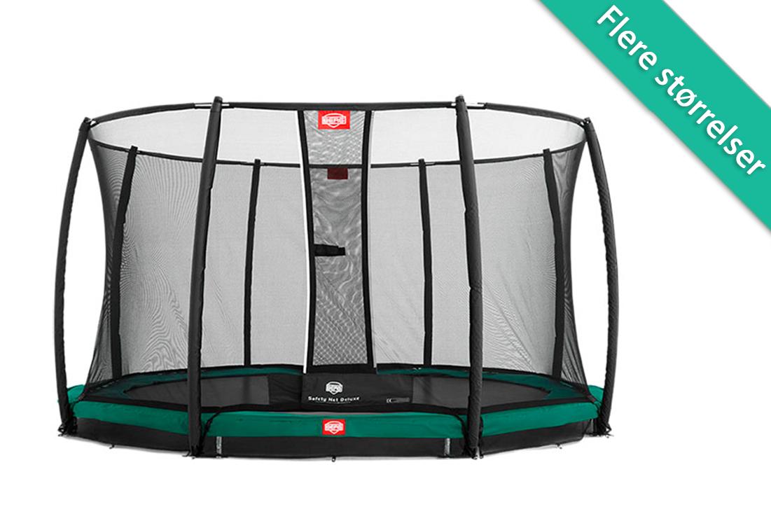 Berg Champion trampolin til nedgravning med deluxe sikkerhedsnet - 270 cm