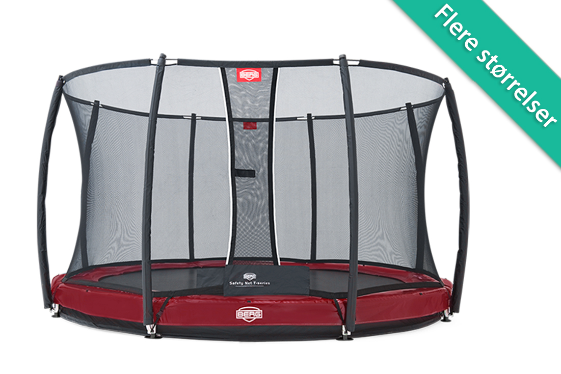 Image of   Berg Elite+ InGround trampolin med T series sikkerhedsnet - 430 cm