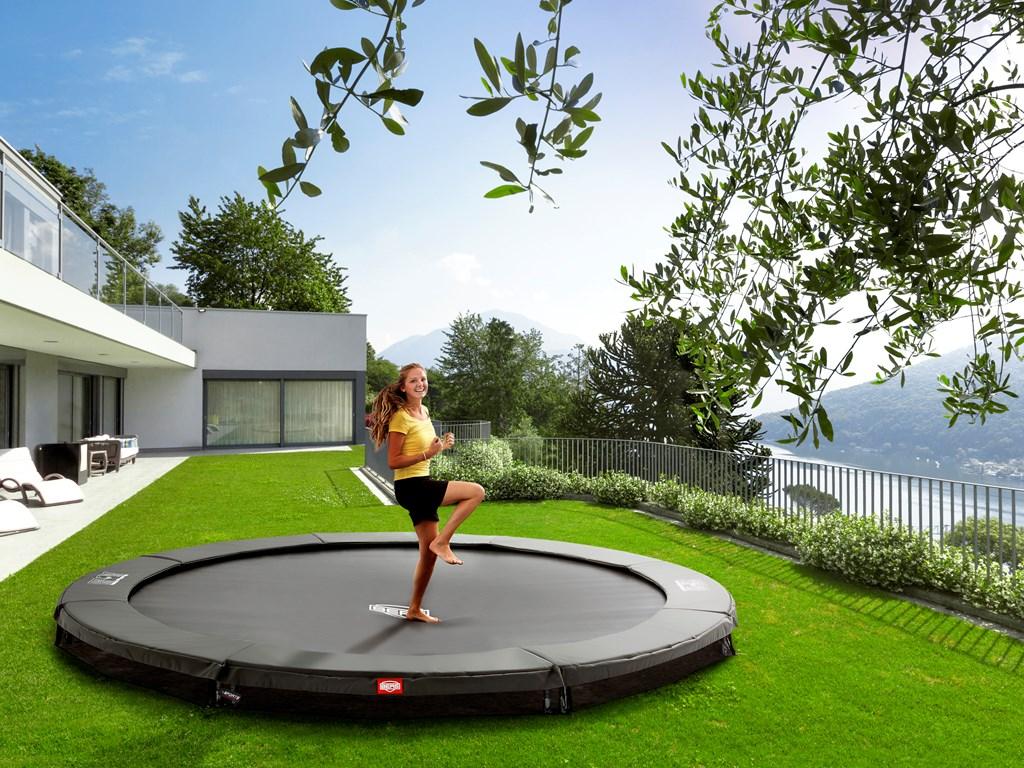 berg champion gr trampolin til nedgravning. Black Bedroom Furniture Sets. Home Design Ideas