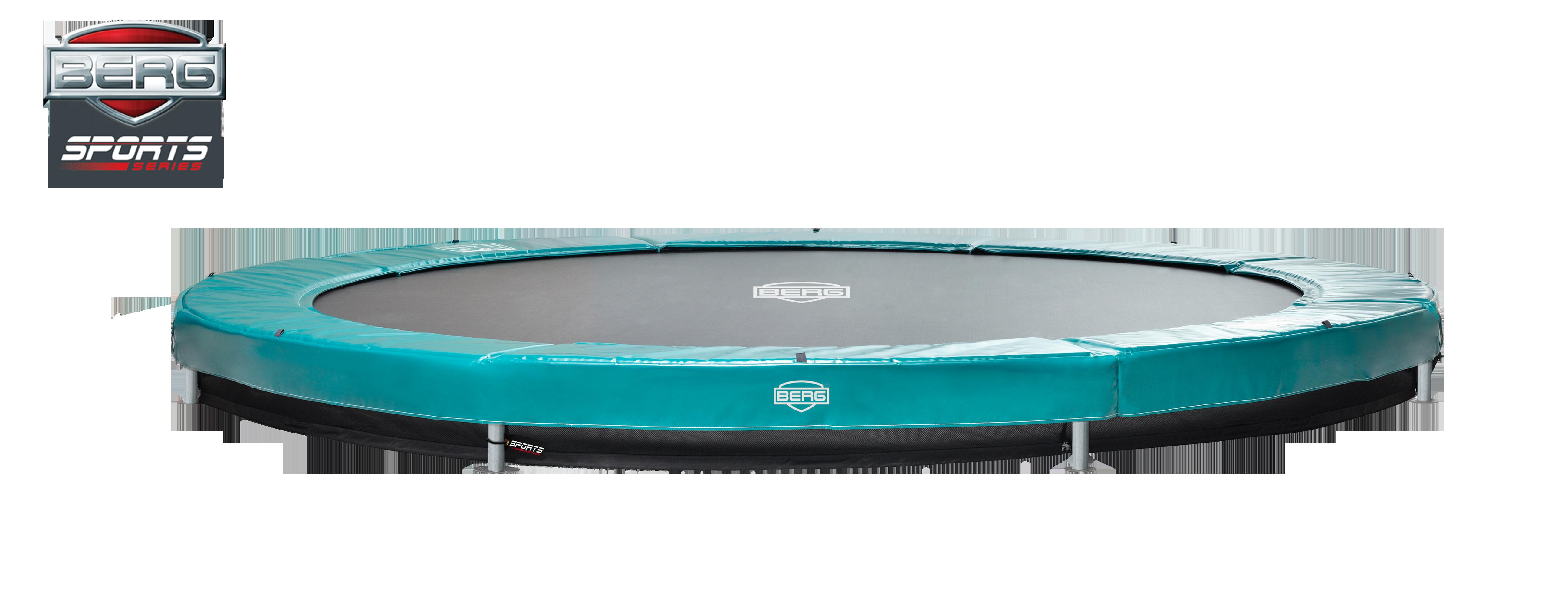 Berg Elite+ trampolin til nedgravning grøn - 380 cm