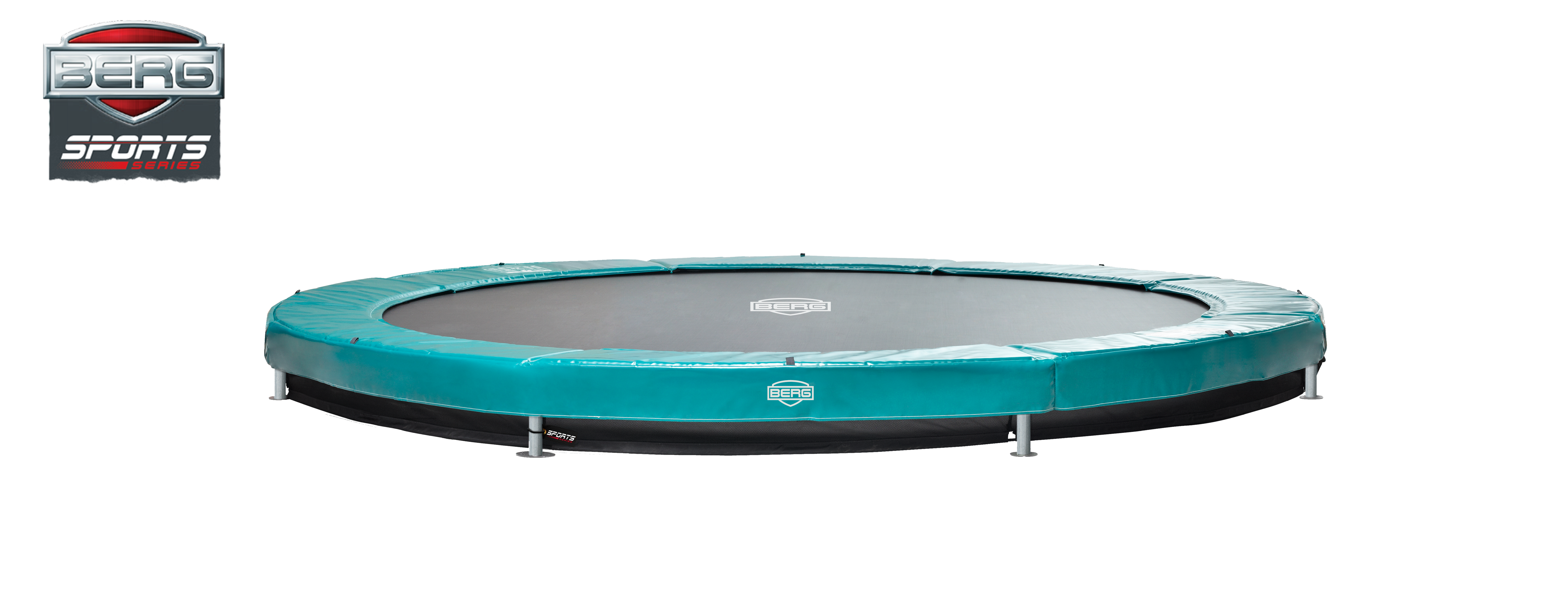 Berg Elite+ trampolin til nedgravning grøn - 330 cm