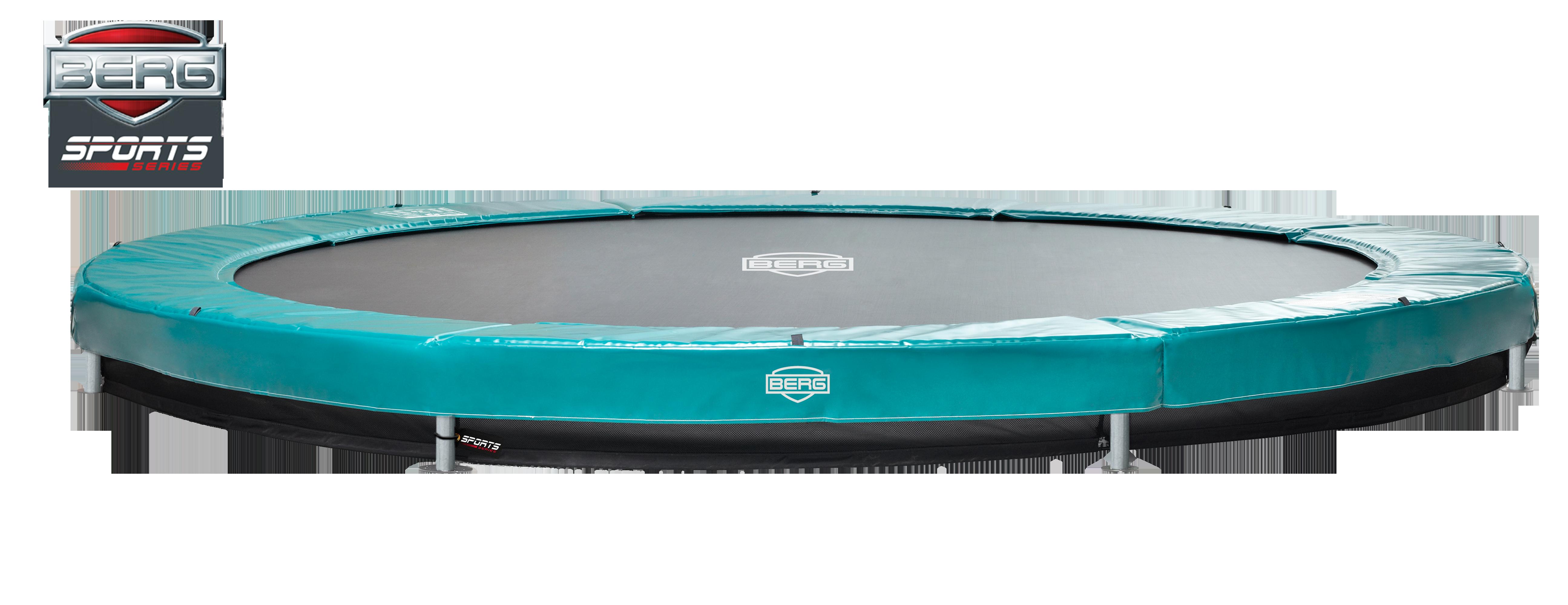 Image of   Berg Elite+ trampolin til nedgravning grøn - 430 cm